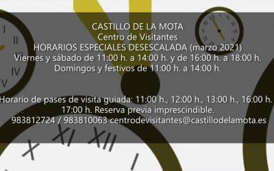 Este viernes 12 de marzo… ¡Vuelven las visitas guiadas al Castillo de la Mota! Consulta nuestros horarios especiales de desescalada.